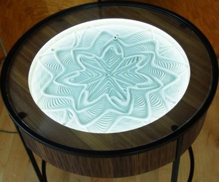 Kinetic art coffee table